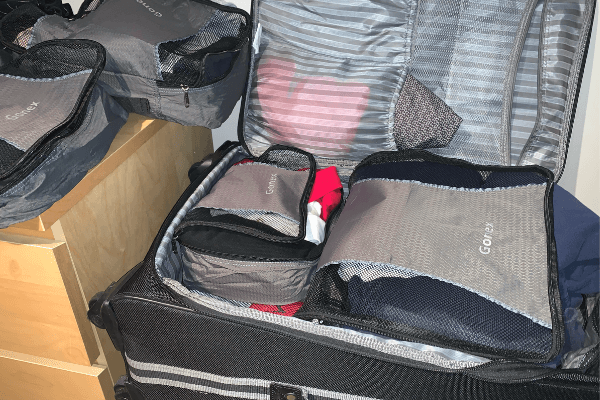 cruise packing packing cubes