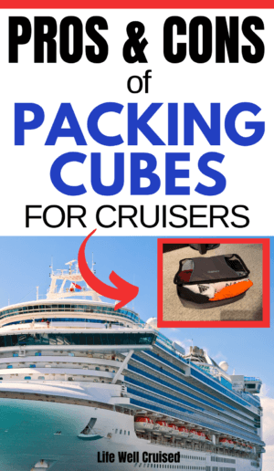 Pros & Cons of Packing Cubes for Cruisers PIN image