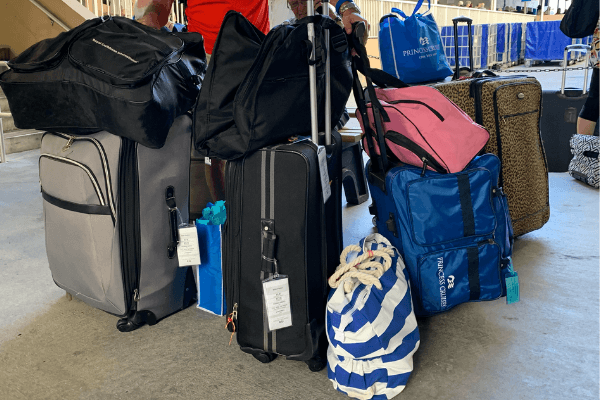 cruise luggage and packing