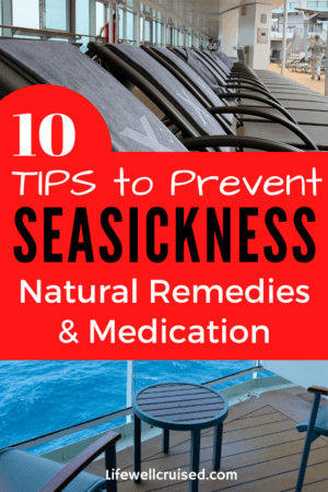 10 Tips to Prevent Seasickness - Natural Remedies and Medication PIN image