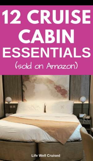 12 Cruise Cabin Essentials (sold on Amazon)