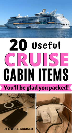 20 Useful Cruise Cabin Items You'll be glad you packed PIN