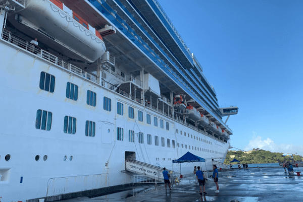 Cruise ship at port St. Lucia