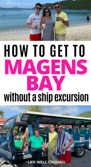 How to get to Magens Bay without a ship excursion PIN