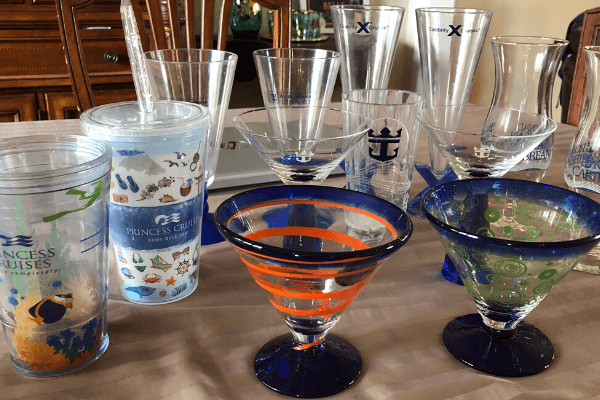 Cruise souvenir glasses 6 x 4