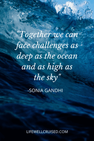 Together we can face challenges as deep as the ocean PIN