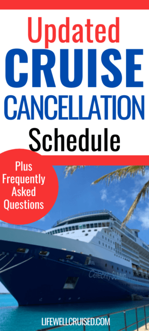 Updated Cruise Cancellation Schedule PIN
