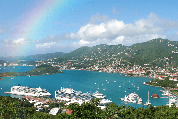 Cruise ships st thomas rainbow