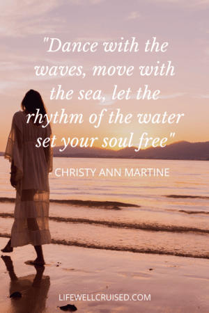 Dance with the waves, move with the sea, let the rhythm of the water set your soul free