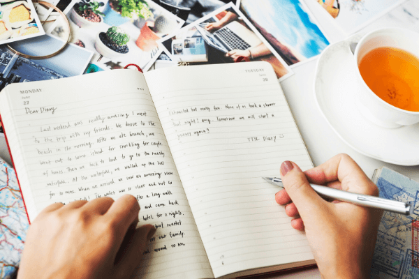 Journal positive thoughts 6 x 4