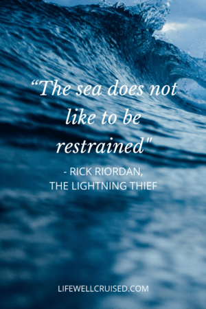 The sea does not like to be restrained