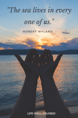 The sea lives in every one of us Robert Wyland Ocean Quote