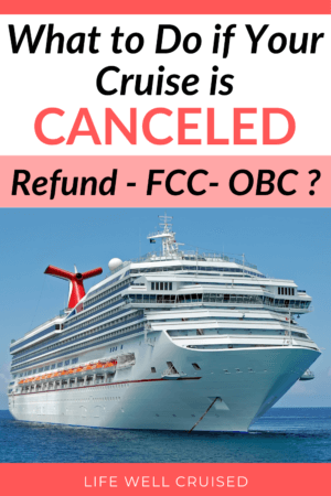 What to do if your cruise is canceled_ Refund, FCC, OBC PIN image