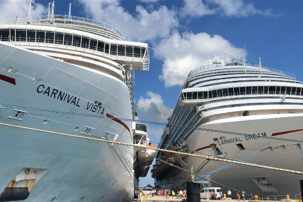 carnival cruise ships in port 6 x 4