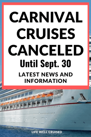 Carnival Cruise Cancelled