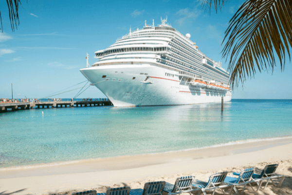 best cruise podcasts - Cruise ship and beach