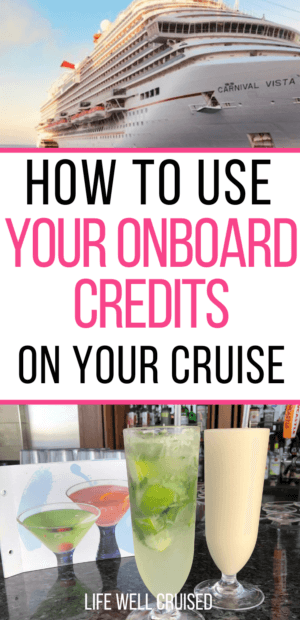 How to use your onboard credits on your cruise