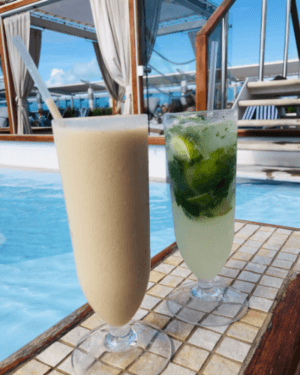 Princess Cruises BBC and Mojito Drinks on pool deck