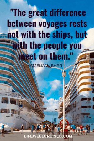 cruise quote - The great difference between voyages rests not with the ships, but with the people you meet on them