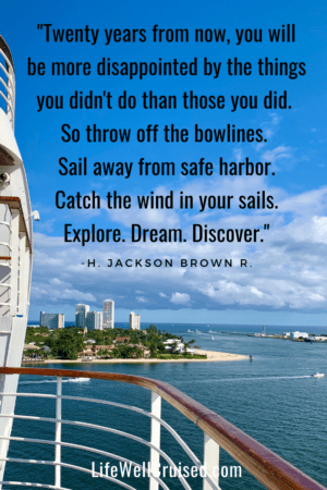cruise travel quote - Twenty years from now