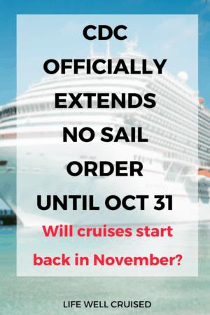 cdc extends no sail order