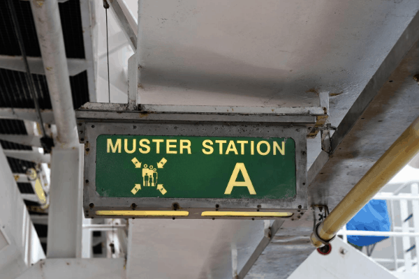 Muster Station cruise ship changes