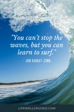 You can't stop the waves but can learn how to surf