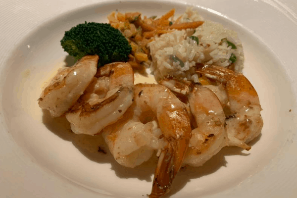 cruise food shrimp