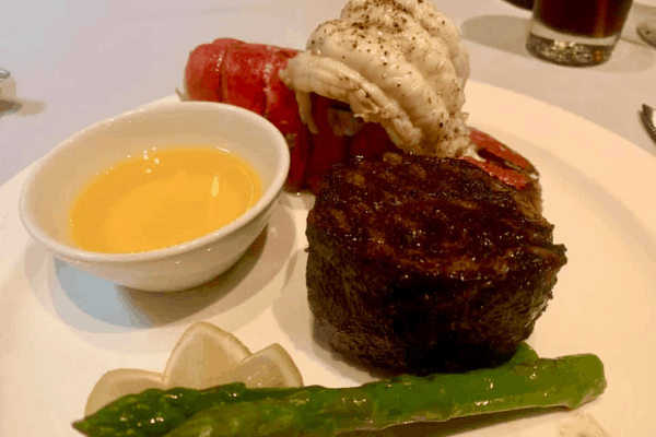 Princess Cruises Steak and lobster crown grill