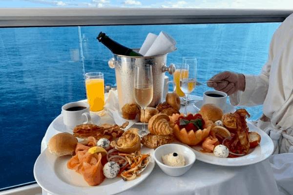 Princess Cruises Ultimate Balcony breakfast