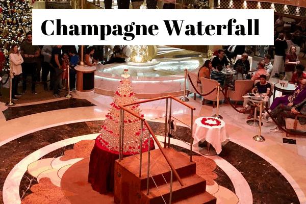 Princess cruise champagne waterfall