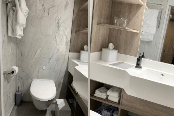 Small cruise bathroom organization