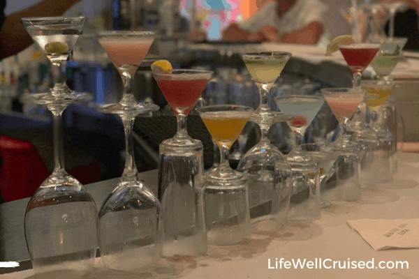 Celebrity Summit Martini bar sampler