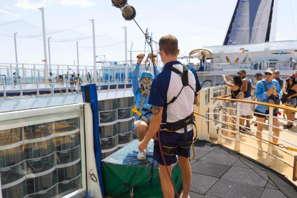 Cruise ship zipline Oasis of the Seas