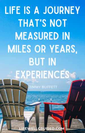 Life is a journey that's not measured in miles or years, but in experiences Jimmy Buffett Quote