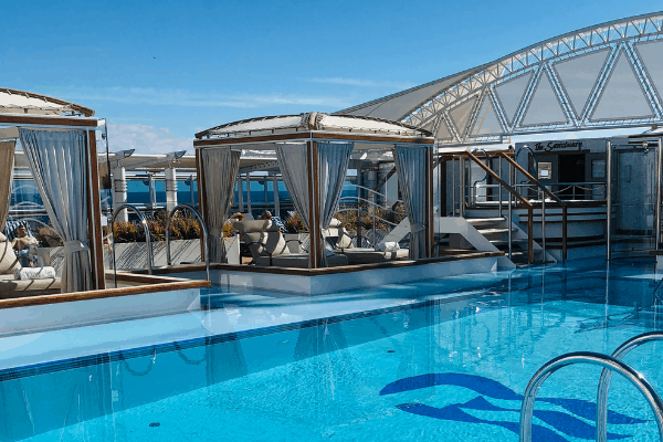 Staying onboard your cruise ship while in port means a quiet pool