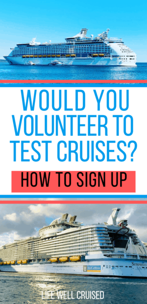 Would You volunteer to test cruises_ PIN