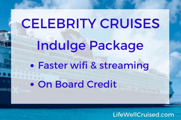 celebrity cruises indulge package