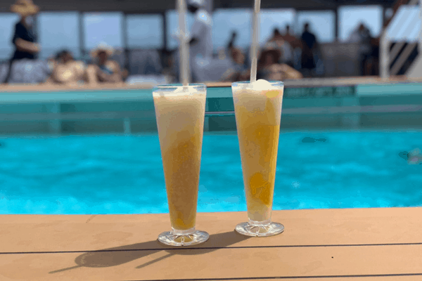 cruise drinks by the pool