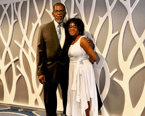 Dr. Paul Thornton, author Joy of Cruising and his wife