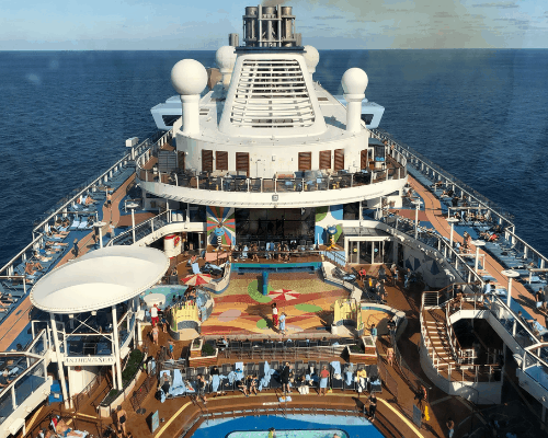 Interview with Dr Paul Thornton Joy of Cruising cruise ship lido deck