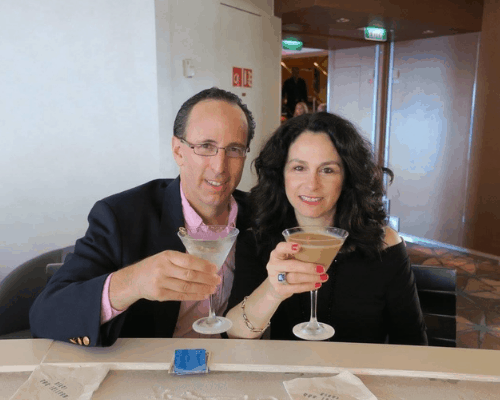 celebrity cruise evening chic couple martini bar