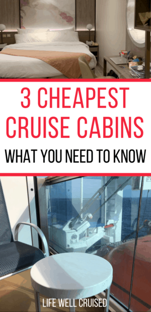 3 cheapest cruise cabins