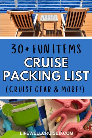 30 fun items cruise packing list