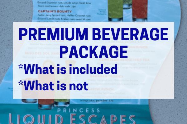 Princess Plus - premium beverage package
