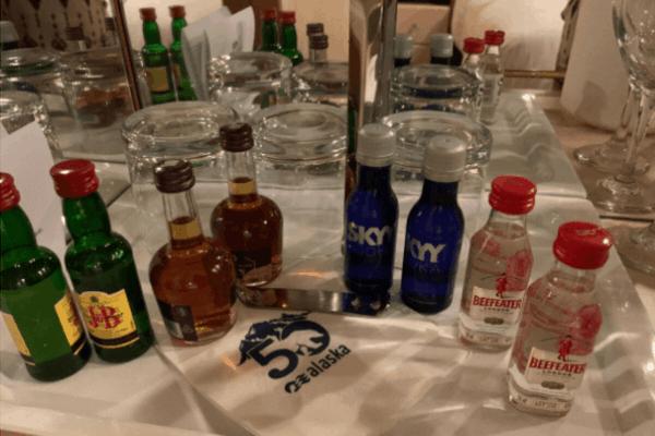 princess cruises Elite mini bar set up
