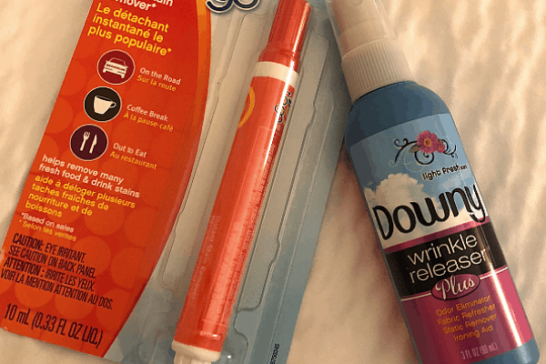 Cruise Toiletries - Tide to Go and Downy Wrinkle Release
