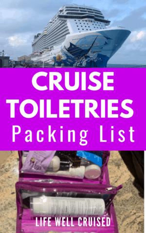 cruise toiletries packing list