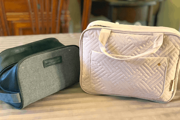 Toiletry Bags for a Cruise His and Hers