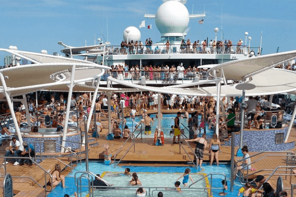 annoying things on cruise crowded pool